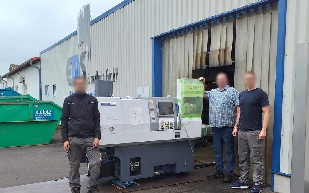 Juni 2021- Anschaffung einer neuen CNC-Drehmaschine